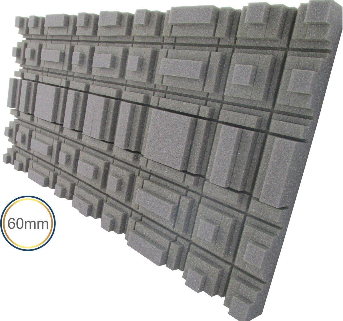 Espuma acústica Difusor - L - Kit 4 peças - (1m²)  - Loja SPL Acústica