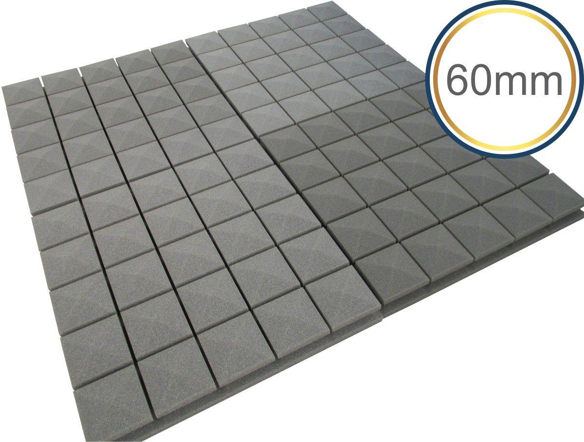 Espuma acústica Linha Difusor - Q3 - Kit 4 peças - (1m²)  - Loja SPL Acústica
