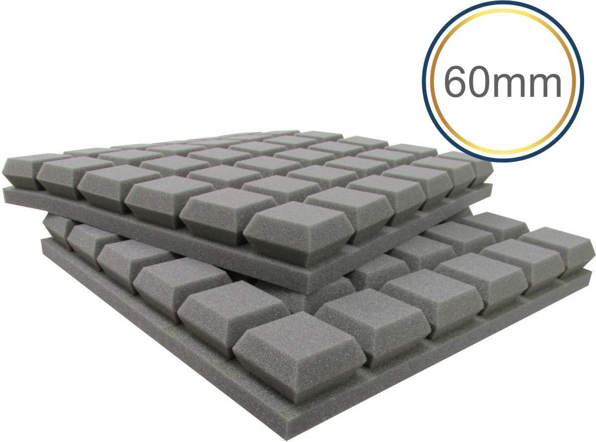 Espuma acústica Linha Difusor - Q Colors - Kit 4 peças - (1m²)  - Loja SPL Acústica