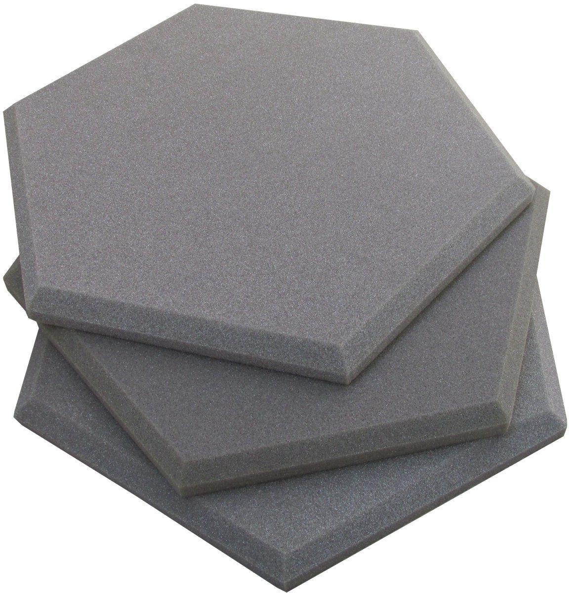 Espuma Acústica - REV Geometric- Hexagonal Cinza- Kit 5 peças - (1m²)  - Loja SPL Acústica