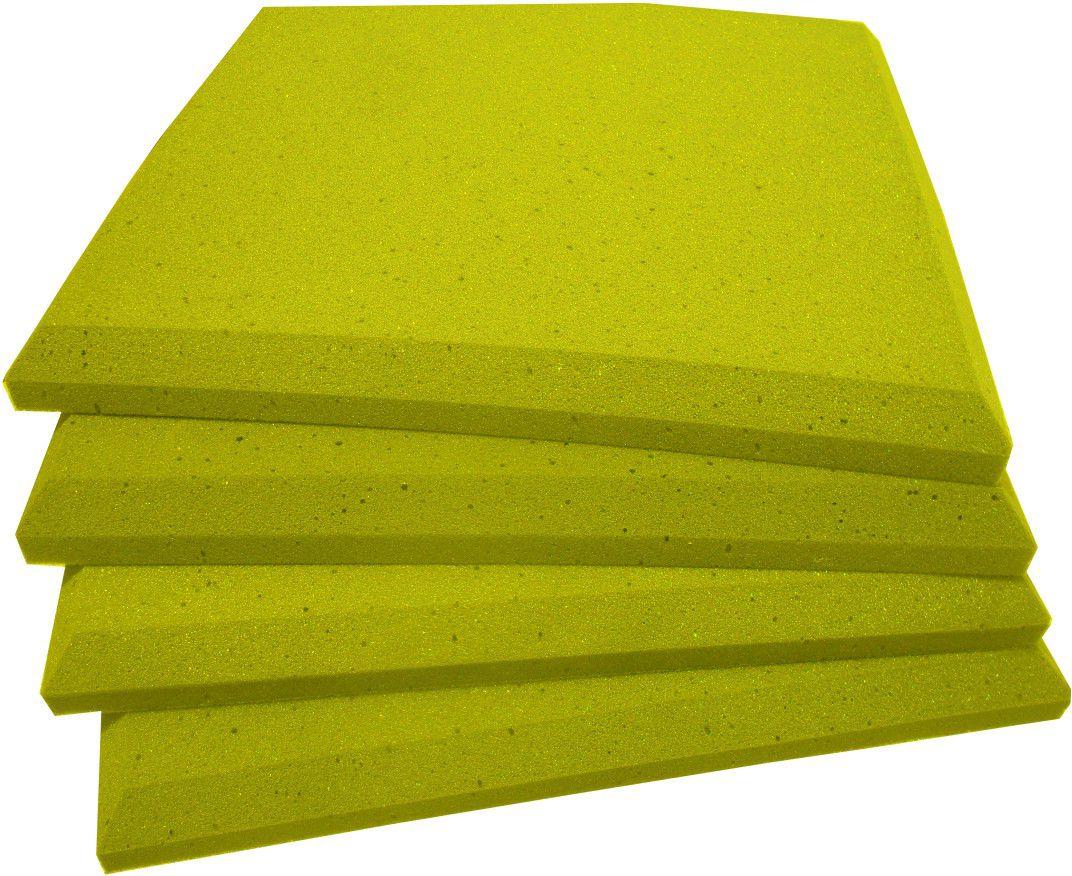 Espuma acústica Linha REV - P - Amarelo - Kit 4 peças (1m²) 30mm  - Loja SPL Acústica