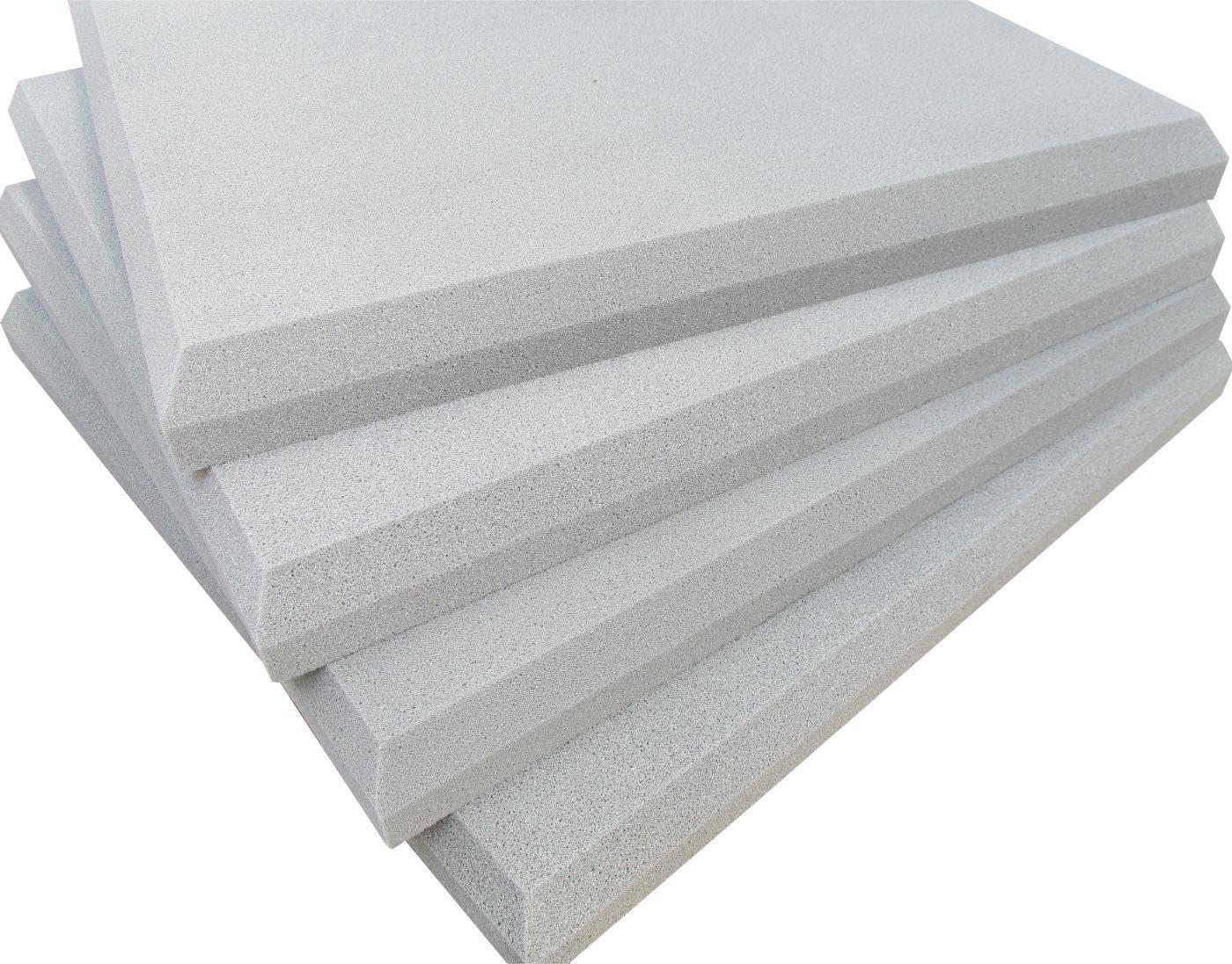 Espuma acústica Linha REV - P - Branco Gelo- Kit 4 peças (1m²) 30mm  - Loja SPL Acústica