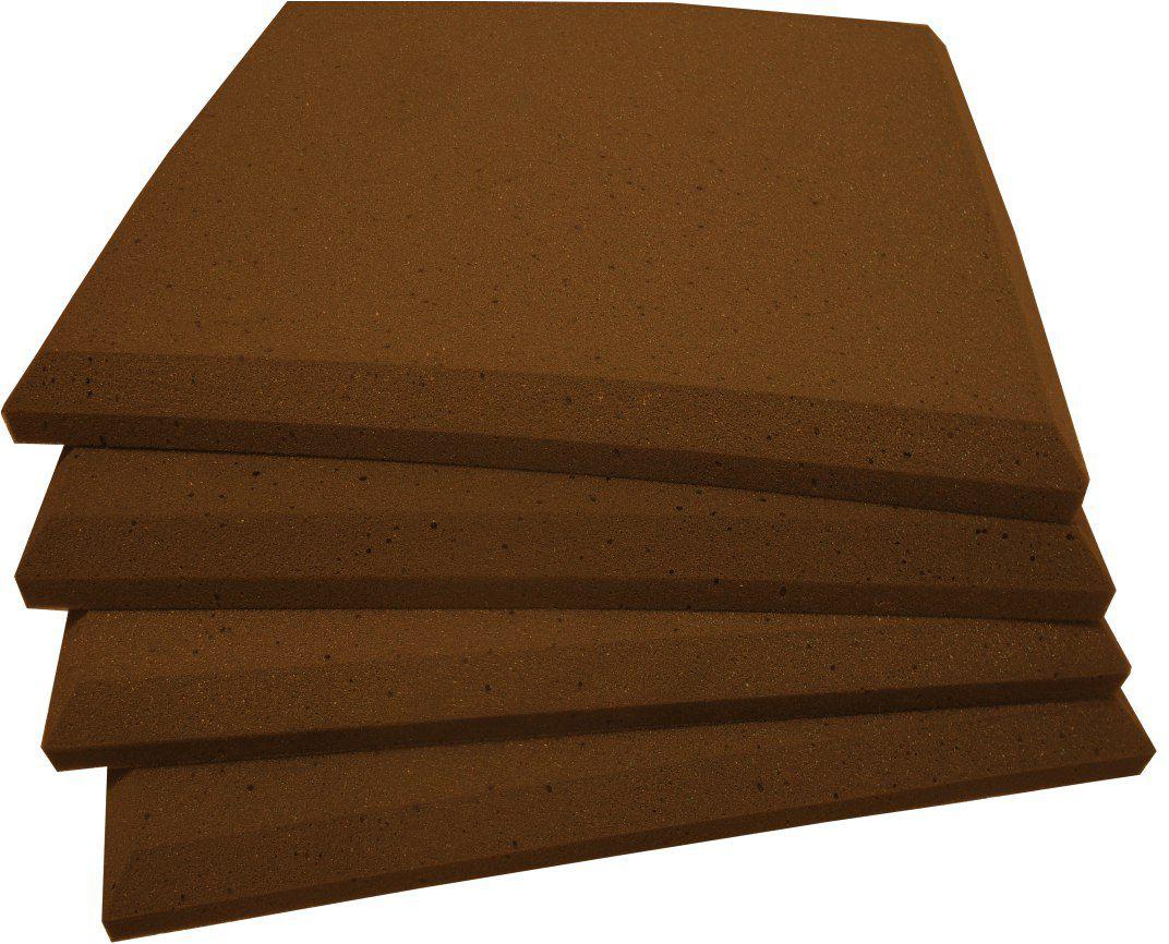 Espuma acústica REV - P - Marrom - Kit 4 peças (1m²) 30mm  - Loja SPL Acústica
