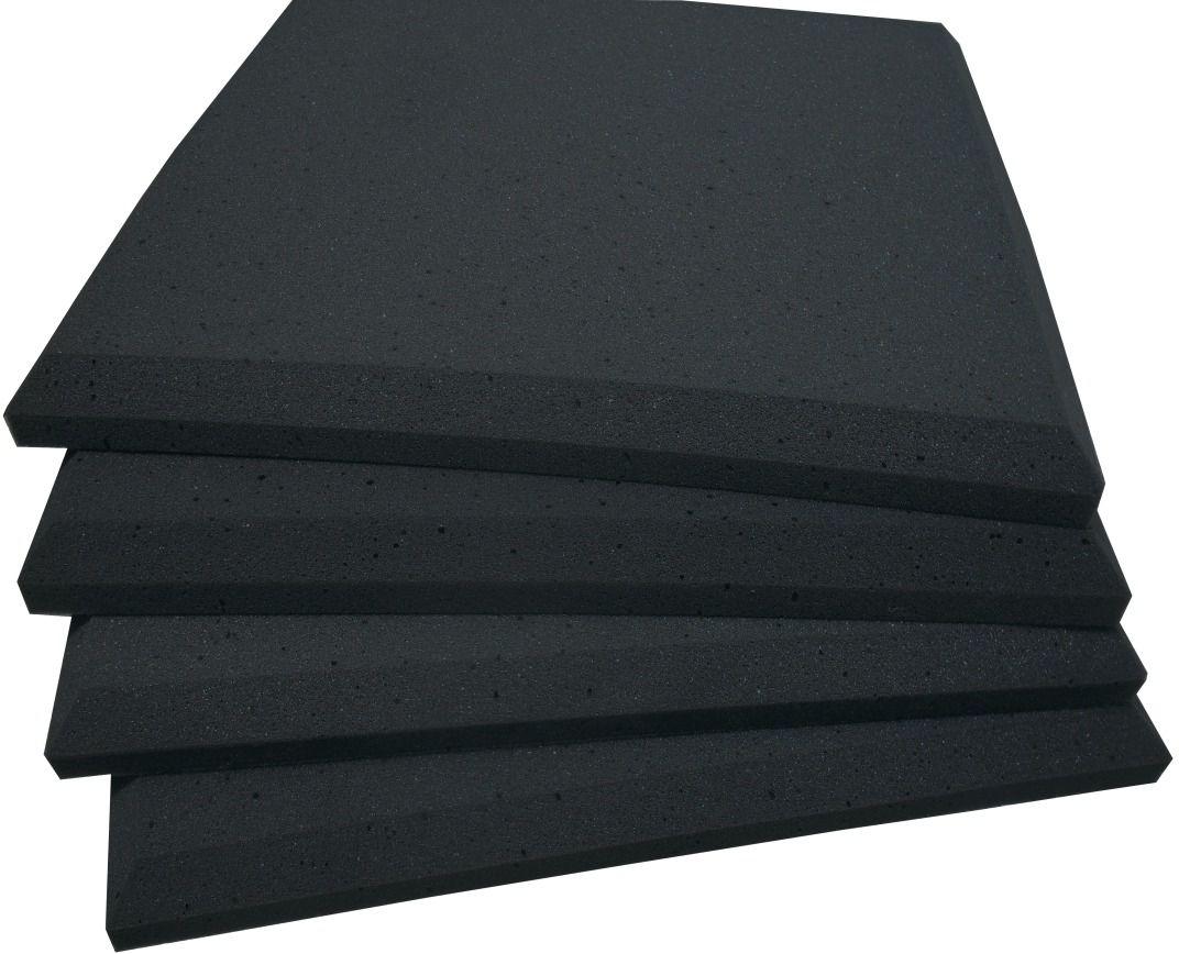 Espuma acústica Linha REV - P - Preto - Kit 4 peças (1m²) 30mm  - Loja SPL Acústica