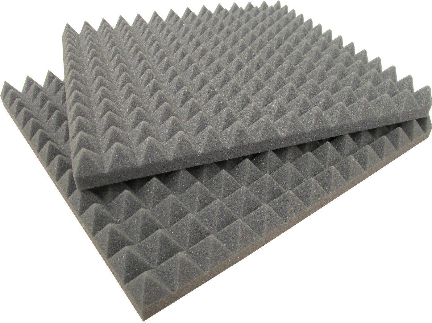 Espuma Acústica - REV - T - Cinza - Kit 4 peças - (1m²)  - Loja SPL Acústica