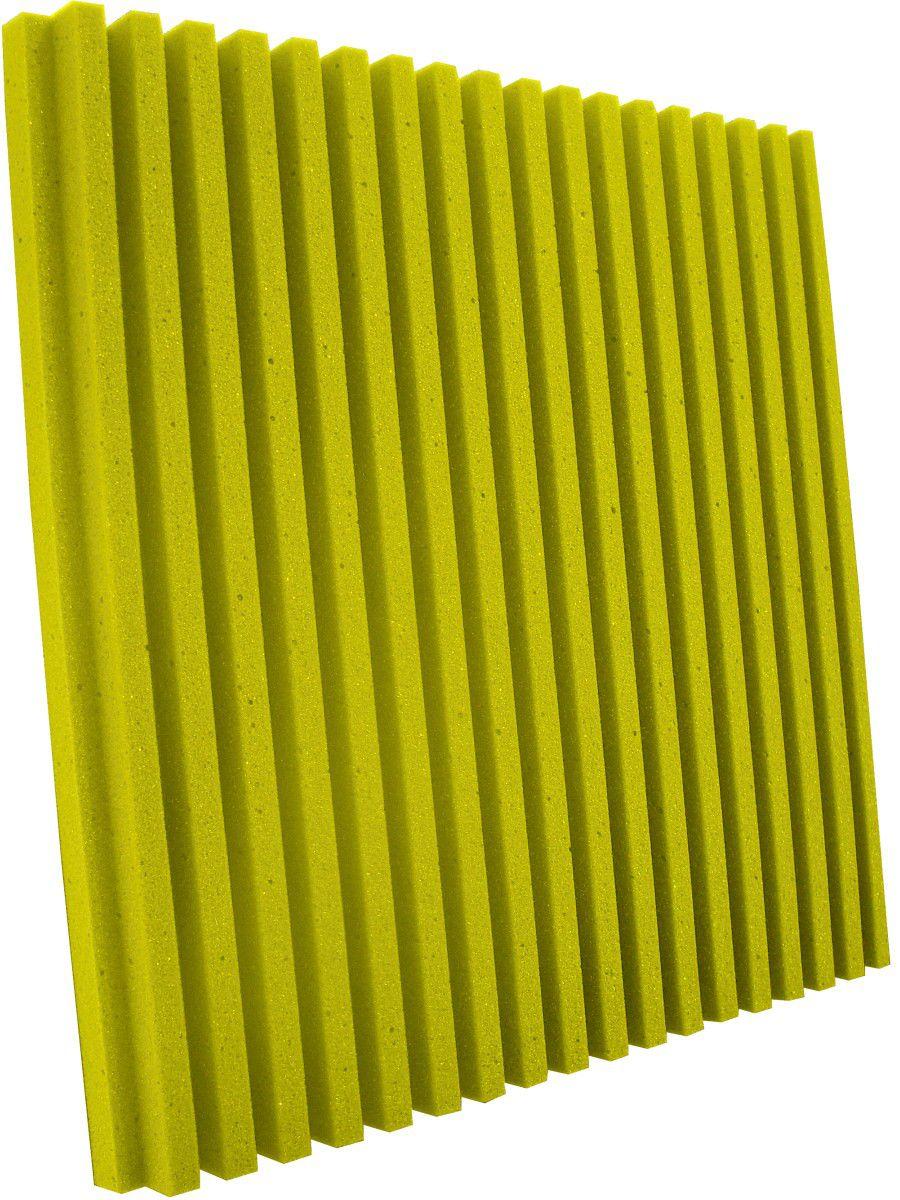 Espuma acústica Linha REV - R - Amarelo - Kit 4 peças (1m²)  - Loja SPL Acústica