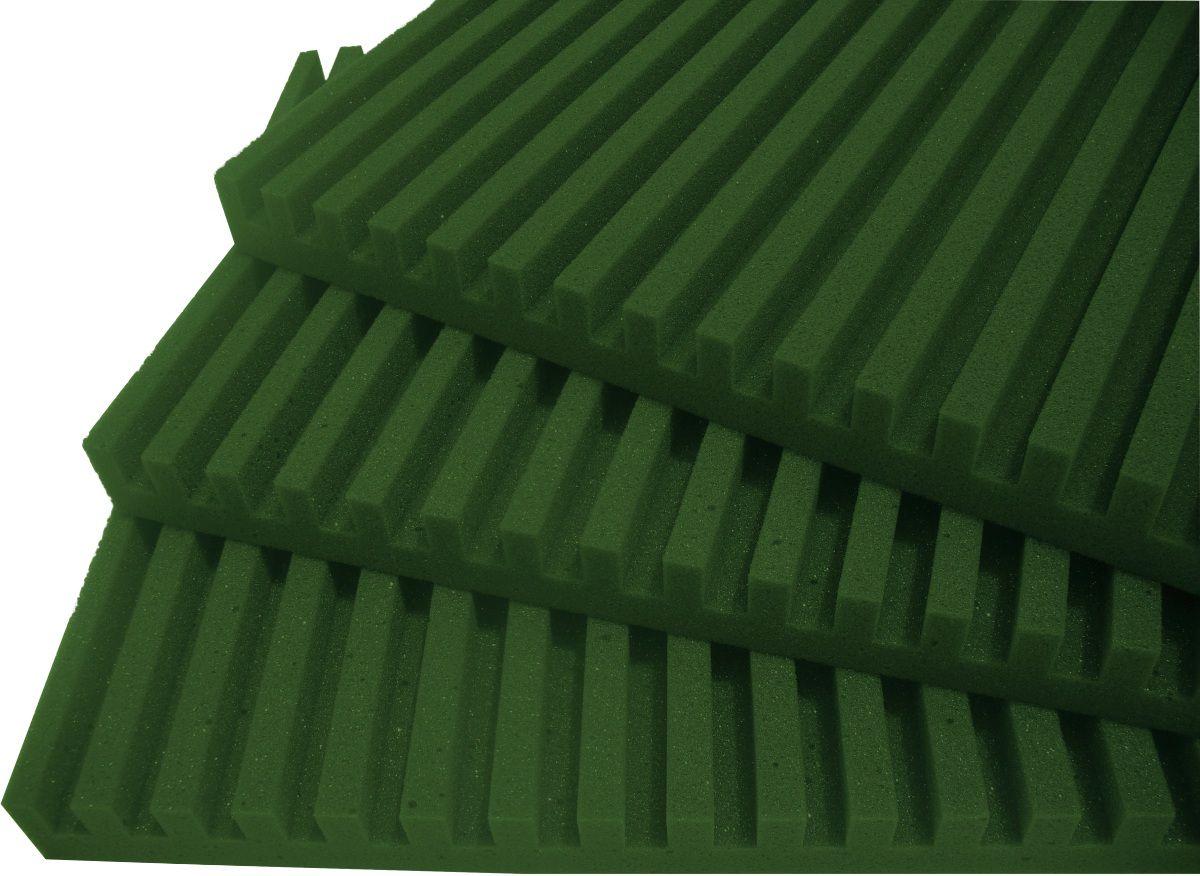 Espuma acústica Linha REV - R - Verde - Kit 4 peças (1m²)  - Loja SPL Acústica