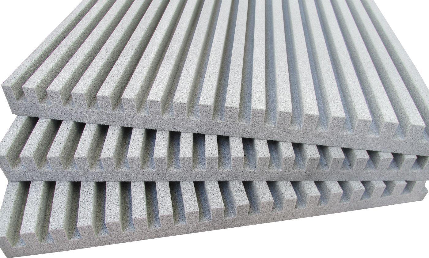 Espuma acústica Linha REV - R - Branco Gelo - Kit 4 peças (1m²)  - Loja SPL Acústica