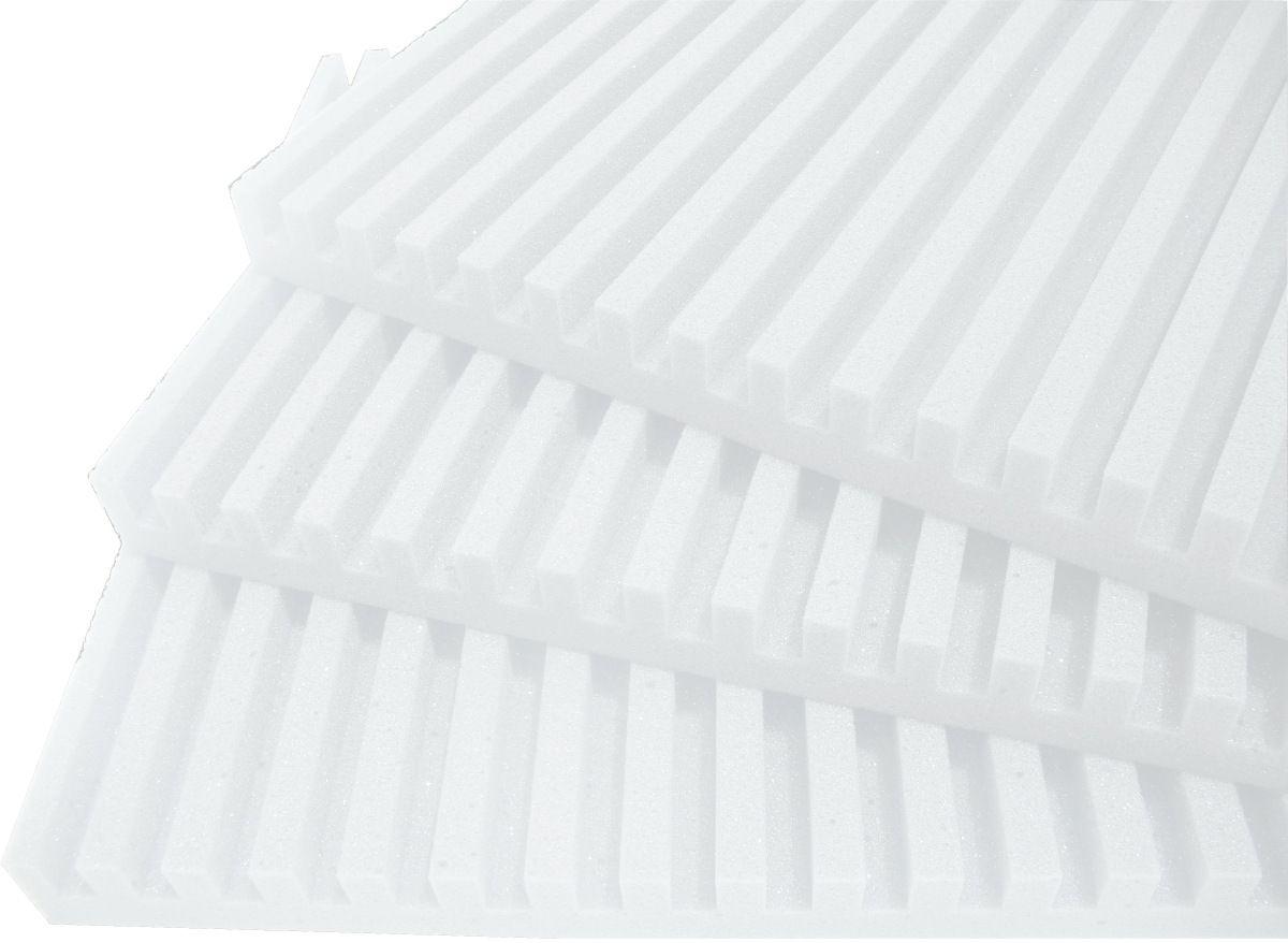 Espuma acústica Linha REV - R - Branco Gelo - Kit 8 peças (2m²)  - Loja  SPL Acústica