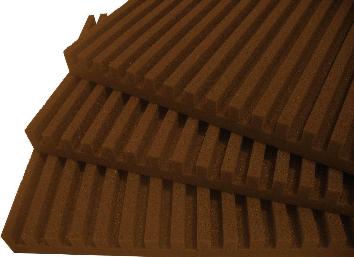 Espuma acústica Linha REV - R - Marrom - Kit 8 peças (2m²)  - Loja SPL Acústica