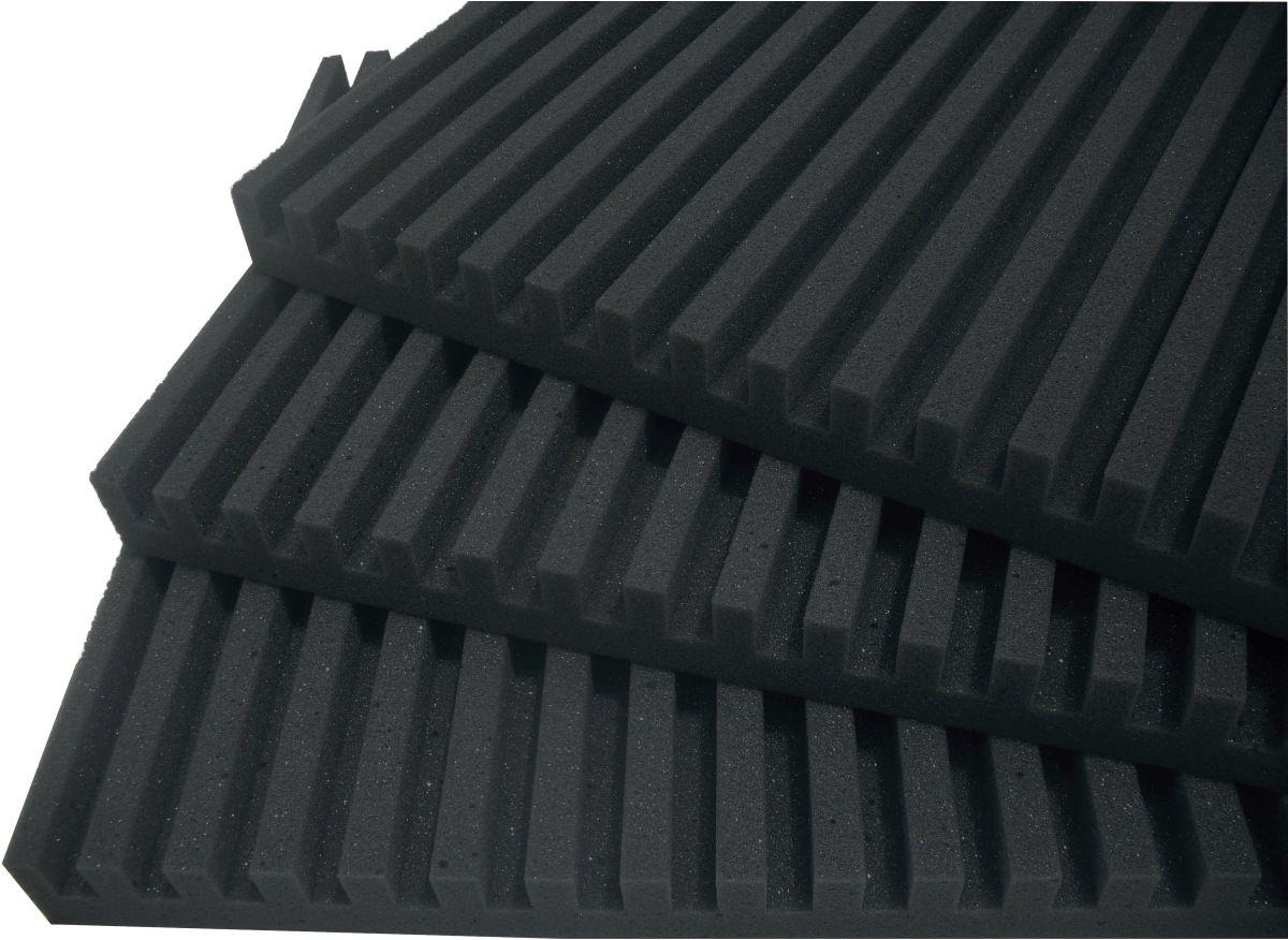 Espuma acústica Linha REV - R - Preto - Kit 4 peças (1m²)  - Loja SPL Acústica