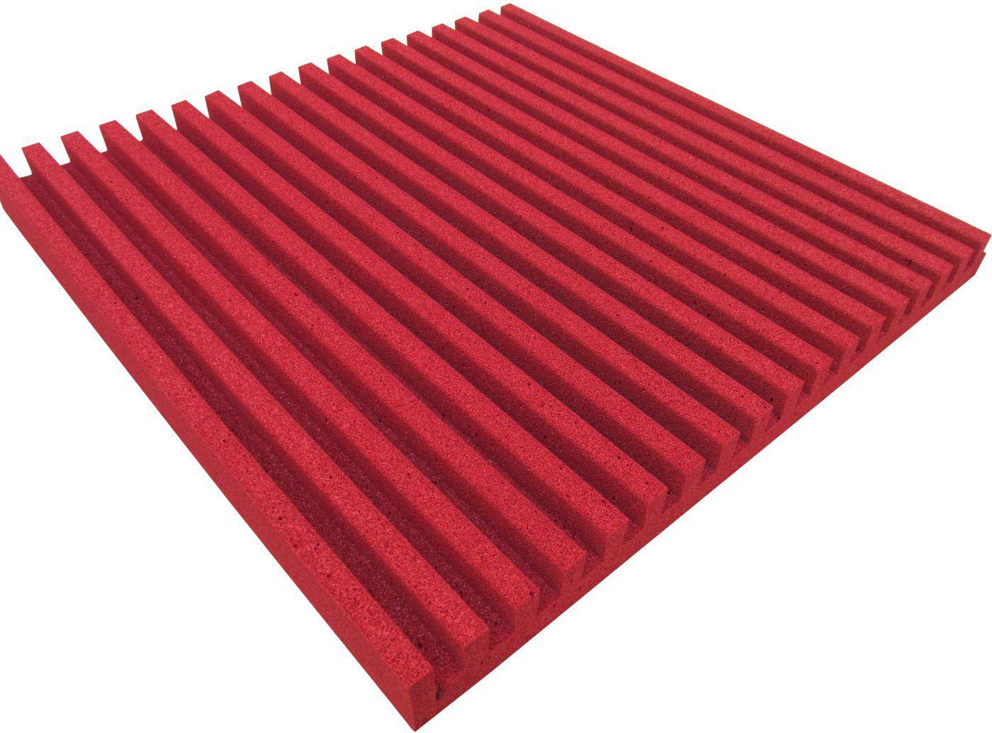 Espuma acústica Linha REV - R - Vermelho - Kit 4 peças (1m²)  - Loja SPL Acústica