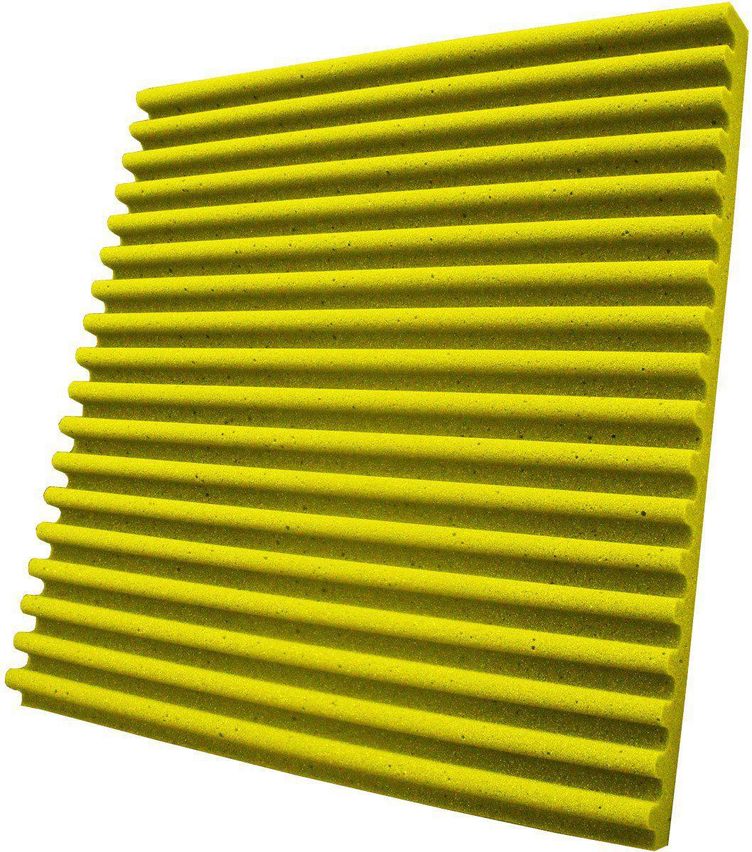 Espuma acústica Linha REV - S - Amarelo- Kit 8 peças (2m²)  - Loja SPL Acústica