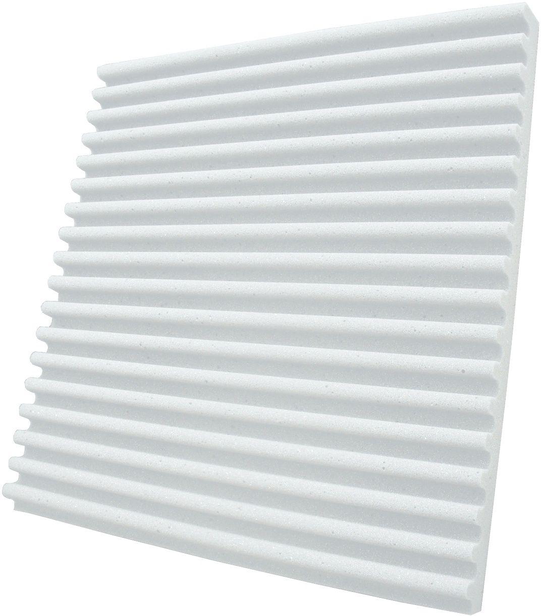 Espuma acústica Linha REV - S - Branco Gelo - Kit 8 peças (2m²)  - Loja SPL Acústica