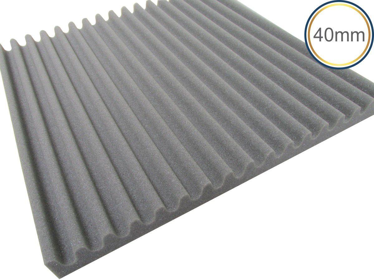 Espuma Acústica - REV - S - Kit 4 peças - (1m²) - Cinza  - Loja SPL Acústica