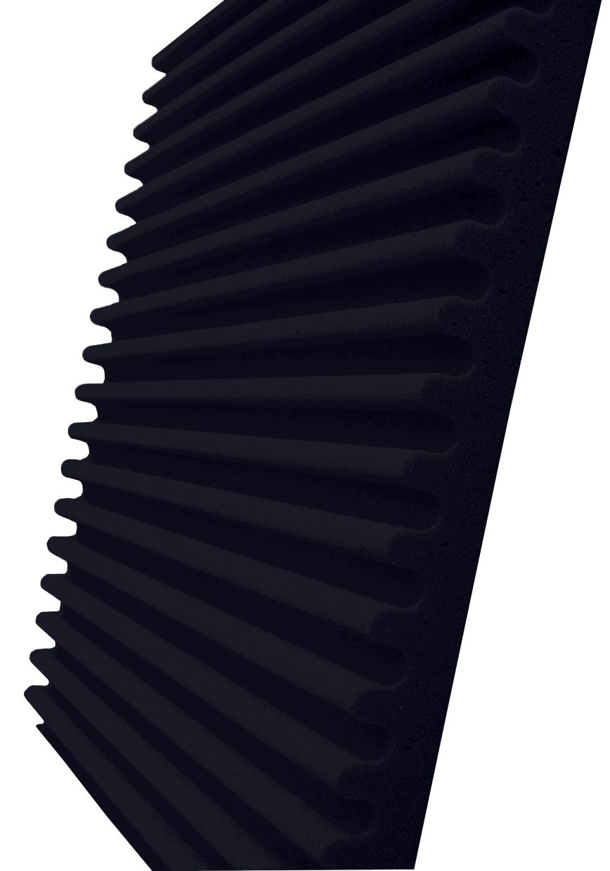 Espuma acústica Linha REV - S - Preto - Kit 4 peças (1m²)  - Loja SPL Acústica