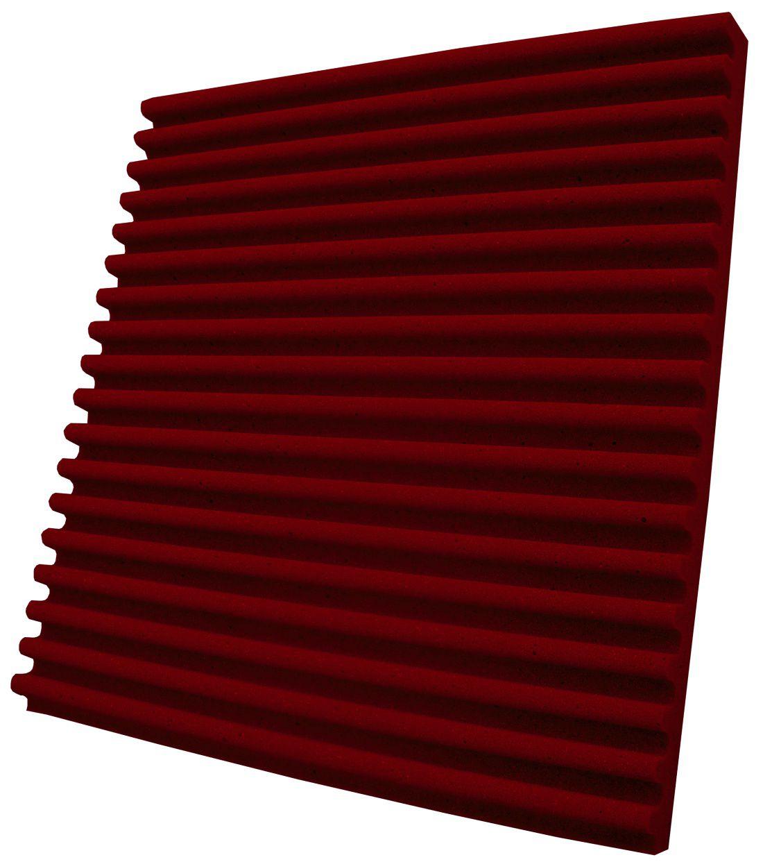 Espuma acústica Linha REV - S - Vermelho - Kit 8 peças (2m²)  - Loja  SPL Acústica