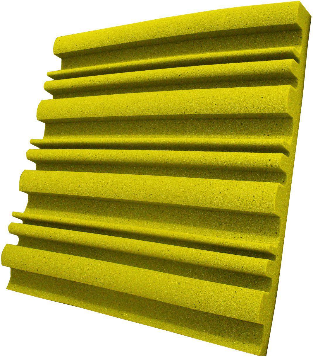 Espuma acústica Linha REV - SII - Amarelo - Kit 8 peças (2m²)  - Loja  SPL Acústica