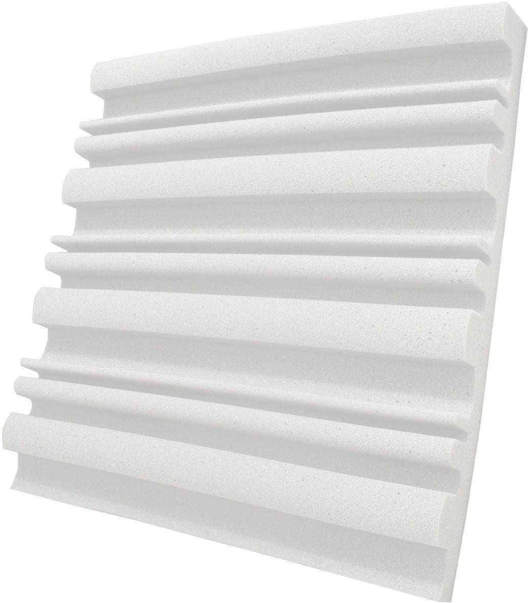 Espuma acústica Linha REV - SII - Branco Gelo - Kit 8 peças (2m²)  - Loja  SPL Acústica