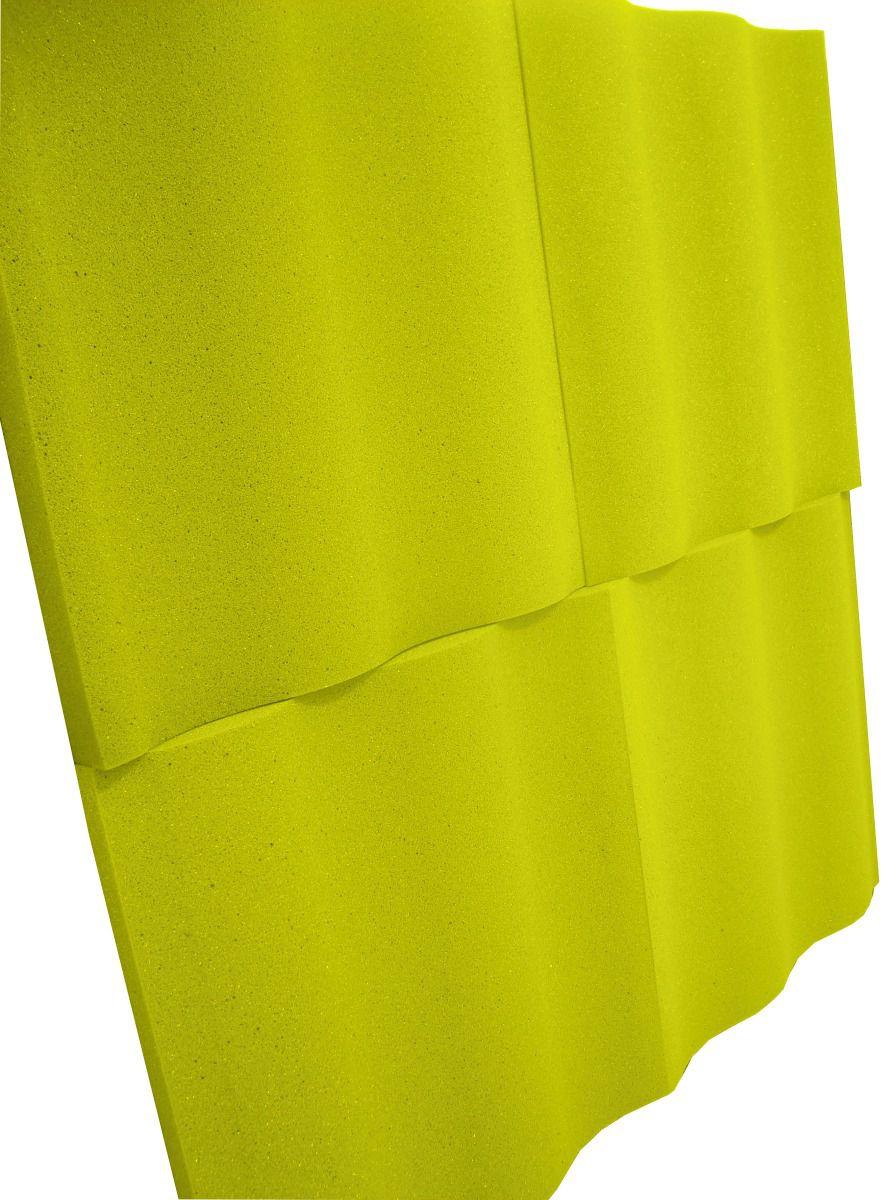 Espuma acústica Linha REV - SS - Amarelo - Kit 4 peças (1m²)  - Loja SPL Acústica