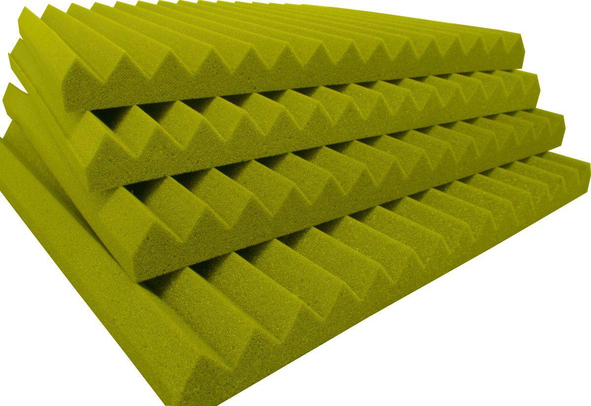 Espuma acústica REV - W2 - Amarelo - Kit 4 peças (1m²)  - Loja SPL Acústica