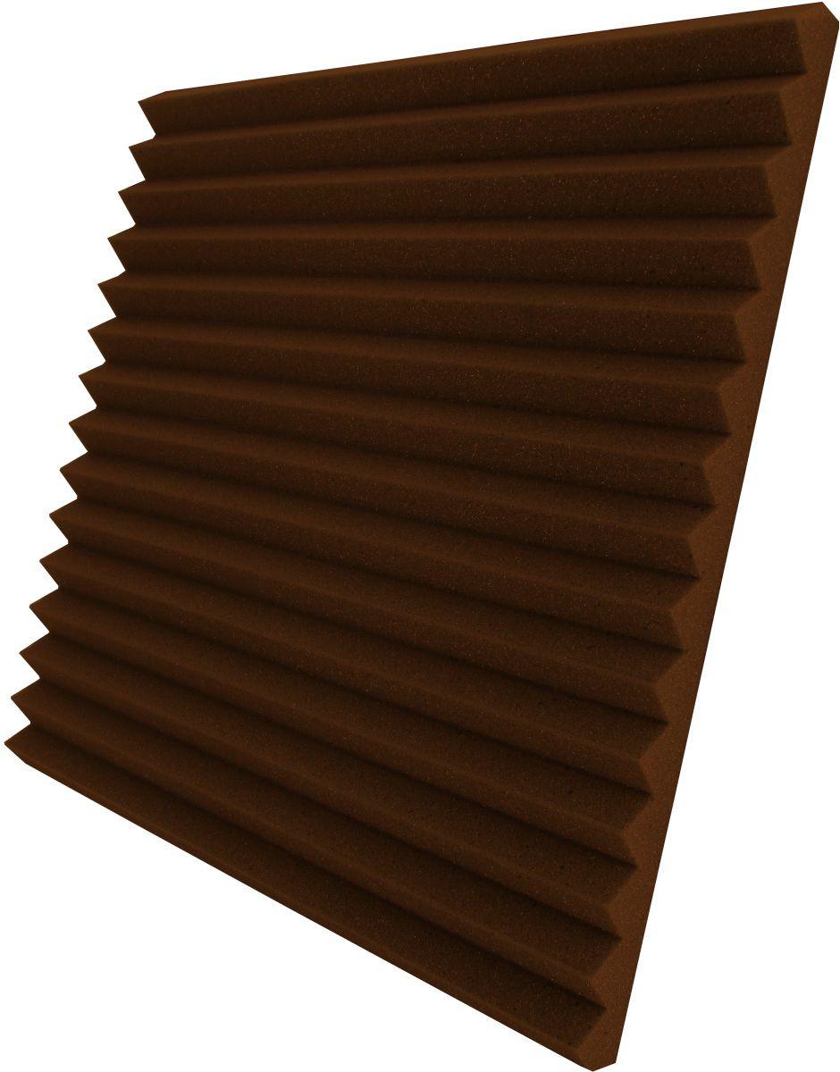 Espuma acústica Linha REV - W2 - Marrom - Kit 4 peças (1m²)  - Loja SPL Acústica