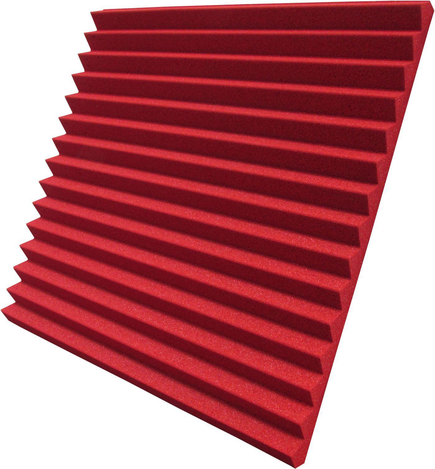 Espuma acústica REV - W2 - Vermelho - Kit 4 peças (1m²)  - Loja SPL Acústica