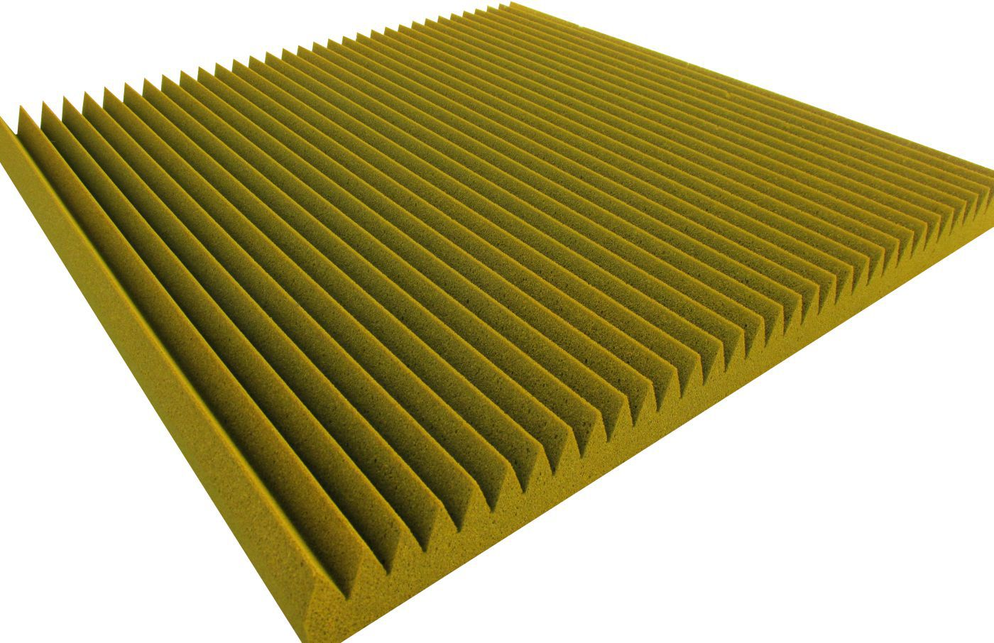Espuma acústica Linha REV - W - Amarelo - Kit 4 peças (1m²)  - Loja SPL Acústica