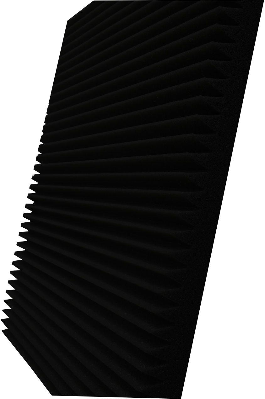 Espuma acústica Linha REV - W - Preto - Kit 4 peças (1m²)  - Loja SPL Acústica