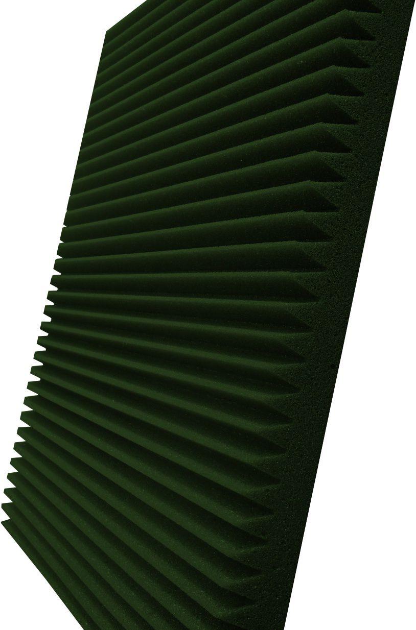 Espuma acústica Linha REV - W - Verde - Kit 8 peças (2m²)  - Loja  SPL Acústica