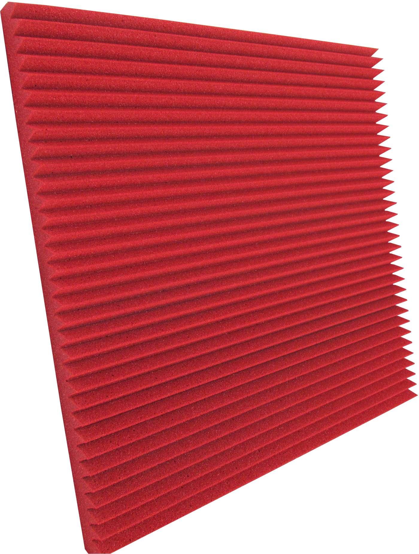 Espuma acústica Linha REV - W - Vermelho - Kit 4 peças (1m²)  - Loja SPL Acústica