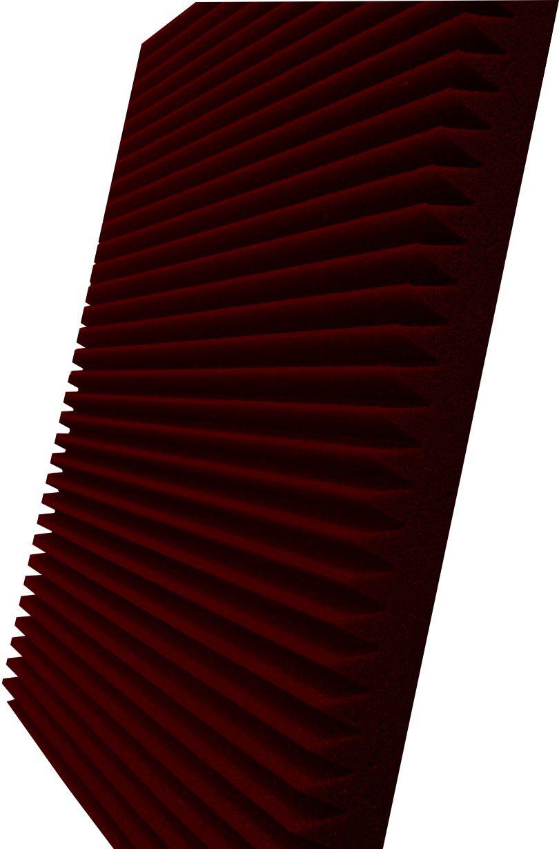 Espuma acústica Linha REV - W - Vermelho - Kit 8 peças (2m²)  - Loja SPL Acústica