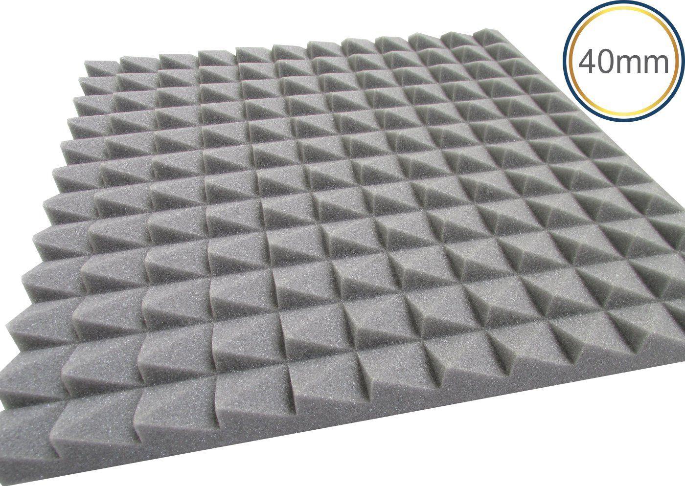 Espuma acústica Revest - Escamas - Kit 4 peças - Cinza - (1m²)  - Loja SPL Acústica