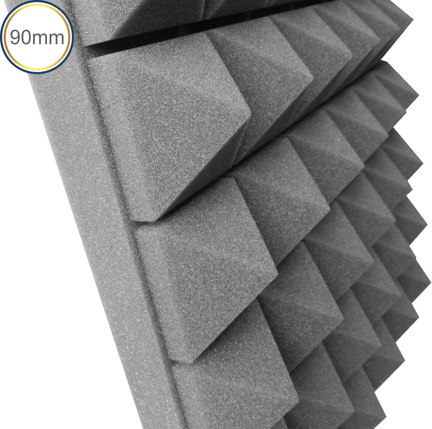 Espuma Acústica - Max T - Cinza - Kit 4 peças (1m²) 90mm  - Loja SPL Acústica