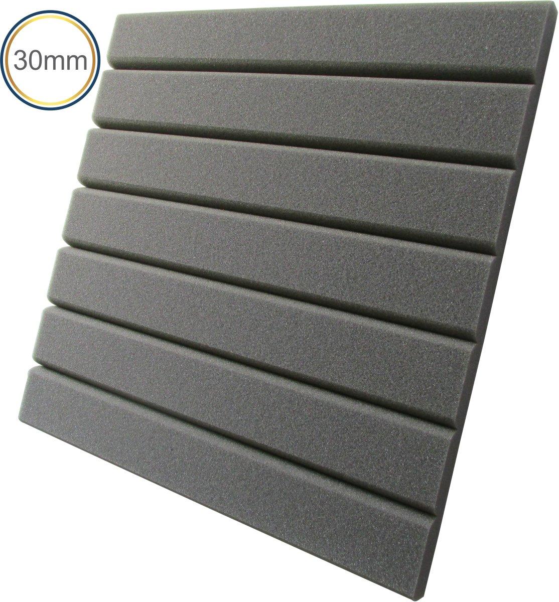 Espuma Acústica - REV H - 30mm Cinza - Kit 4 peças (1m²) 30mm  - Loja SPL Acústica