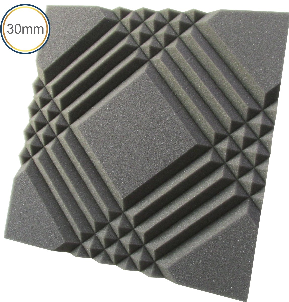 Espuma Acústica - REV Mosaico - 30mm Cinza - Kit 4 peças (1m²) 30mm  - Loja SPL Acústica