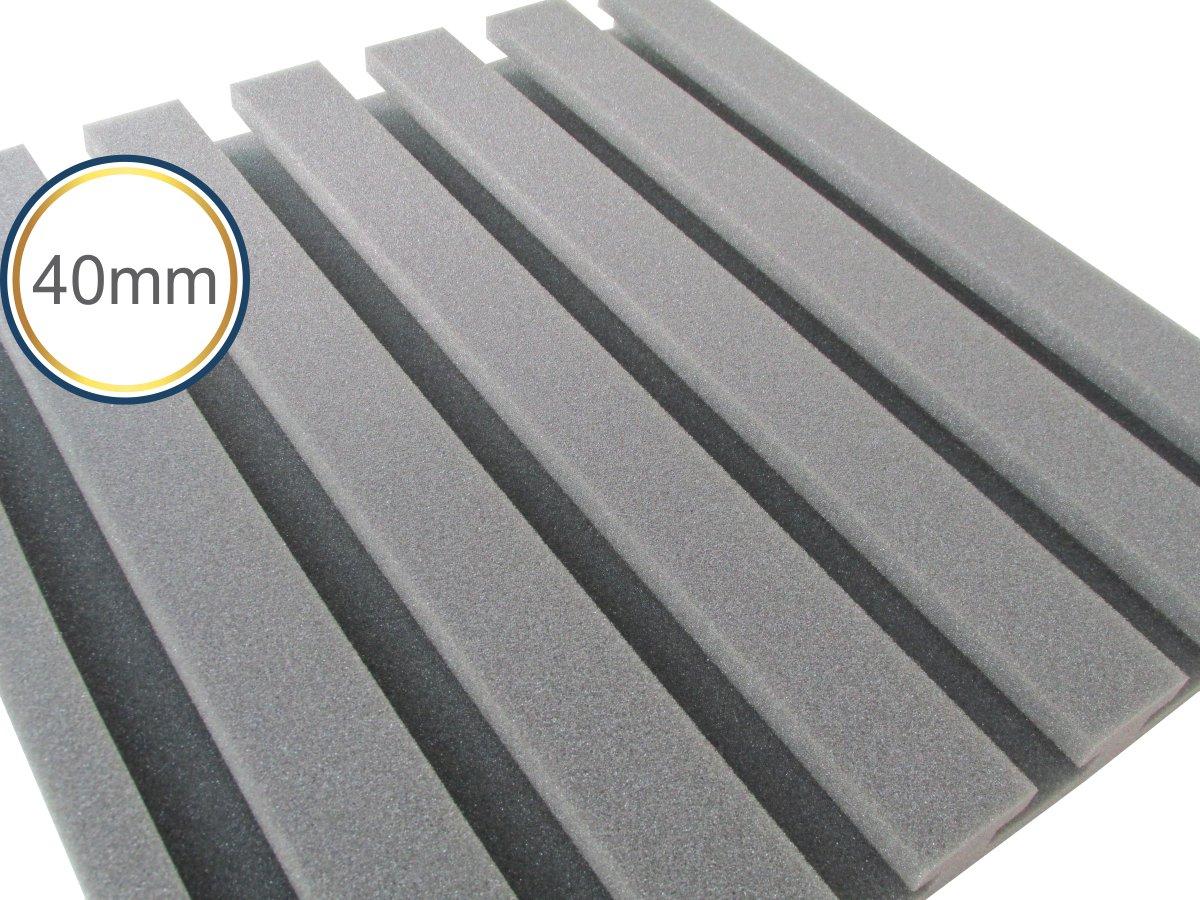 Espuma Acústica - REV - R2 - Kit 4 peças - (1m²)  - Loja SPL Acústica