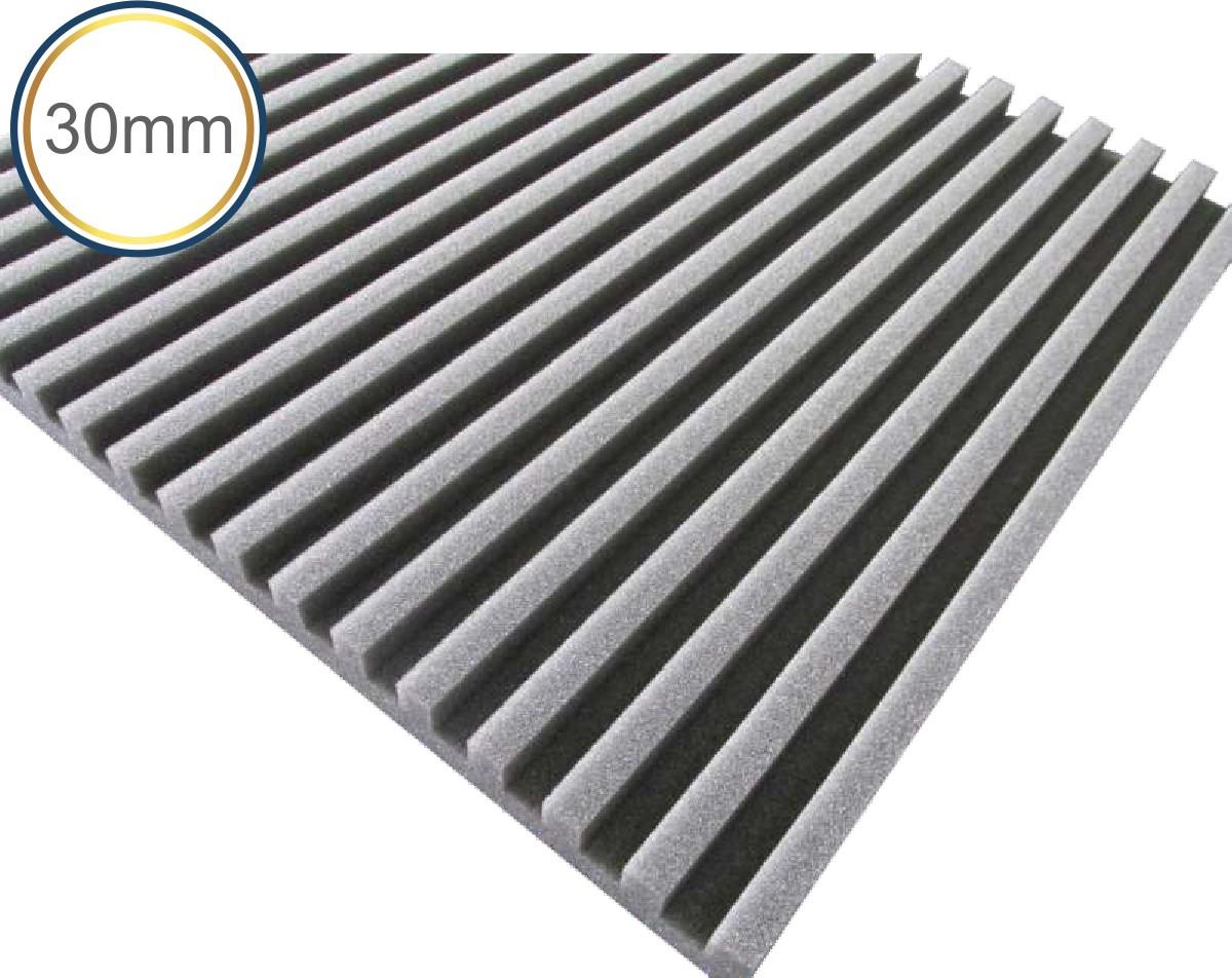 Espuma Acústica - REV R - 30mm - Kit 4 peças - (1m²)  - Loja SPL Acústica