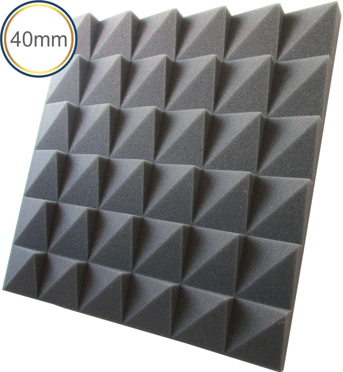 Espuma acústica Revest - Escamas 2 - Kit 4 peças - Cinza - (1m²)  - Loja SPL Acústica