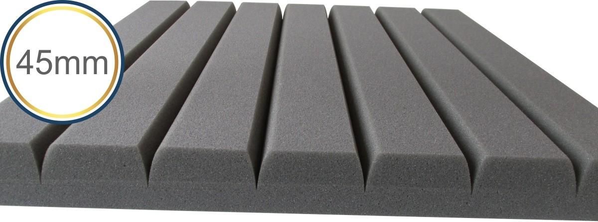 Espuma acústica Revest - Horizonte - Kit 4 peças - Cinza - (1m²)  - Loja SPL Acústica
