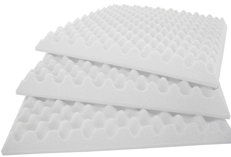 Espuma Perfilada - Kit 8 - Branco Gelo - 50mm (2m²)  - Loja SPL Acústica