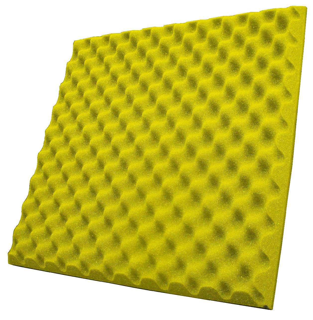 Espuma perfilada - Kit 8 peças - Amarelo-40mm (2m²)  - Loja SPL Acústica