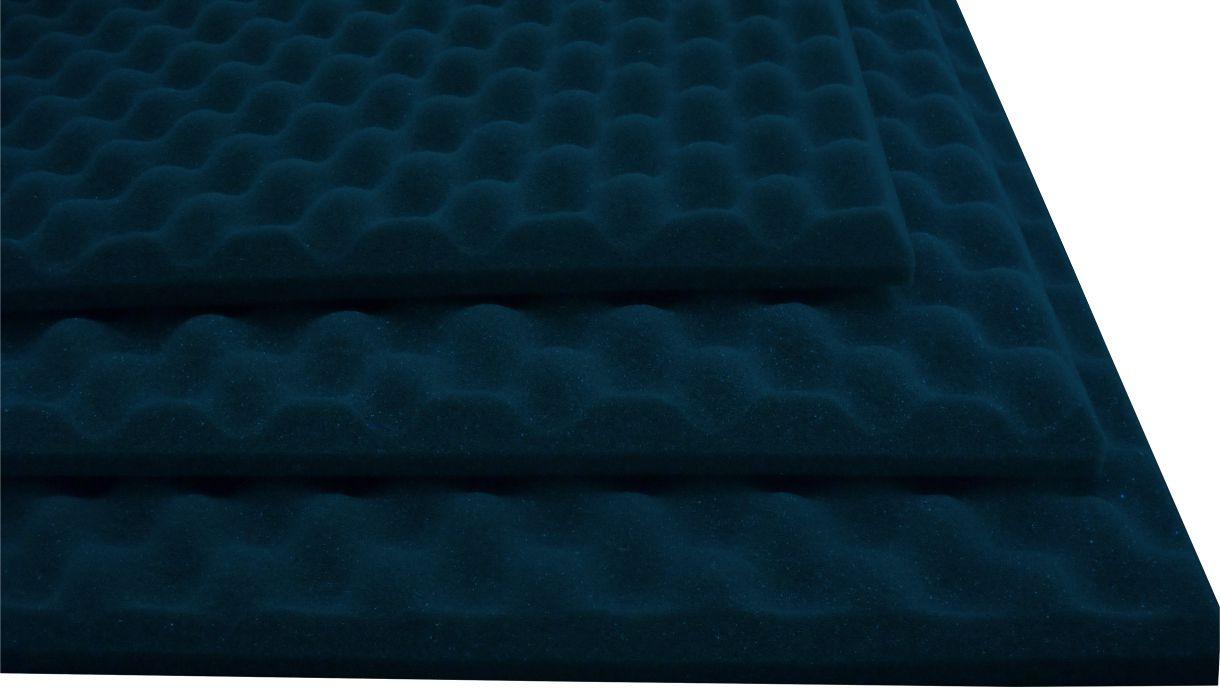 Espuma perfilada - Kit 8 peças - Azul-30mm (2m²)  - Loja SPL Acústica