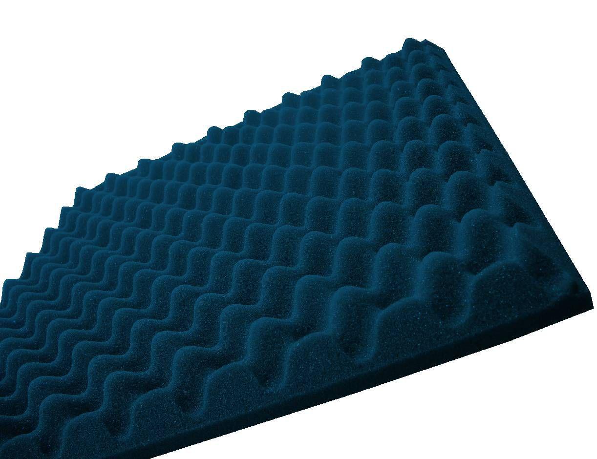 Espuma perfilada - Kit 8 peças - Azul-40mm (2m²)  - Loja SPL Acústica