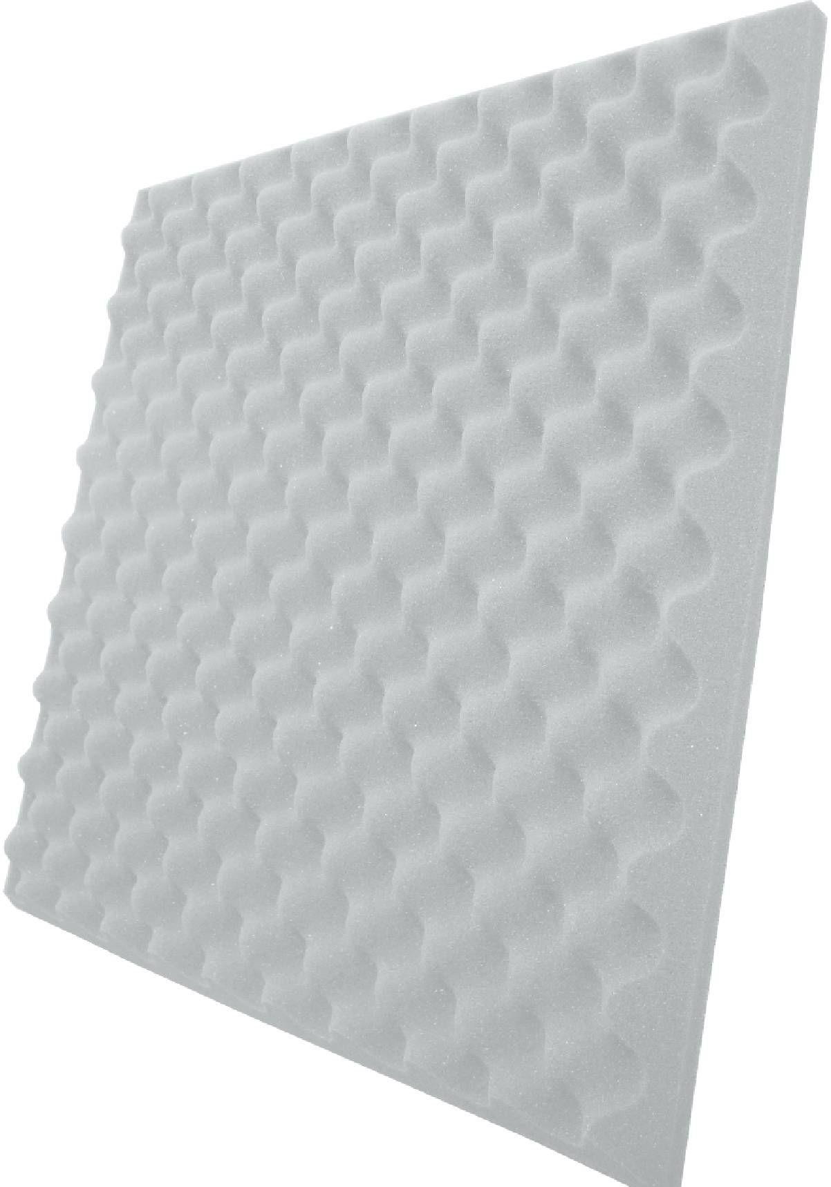Espuma perfilada - Kit 8 peças - Branco Gelo - 40mm (2m²)  - Loja SPL Acústica