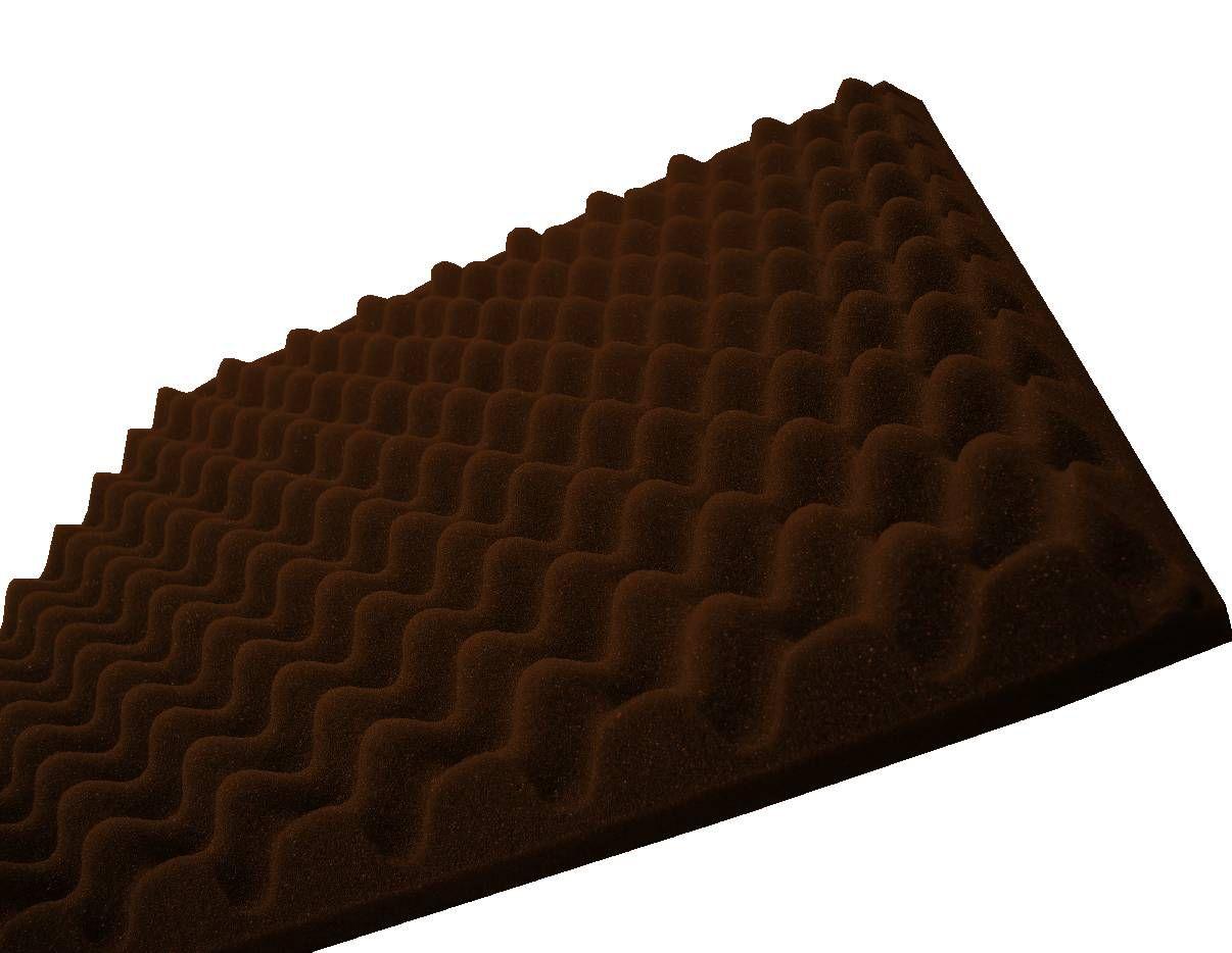 Espuma perfilada - Kit 8 peças - Marrom-40mm-(2m²)  - Loja  SPL Acústica