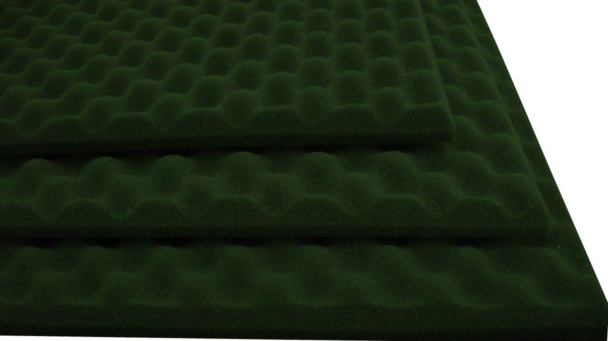 Espuma perfilada - Kit 8 peças - Verde-30mm (2m²)  - Loja SPL Acústica