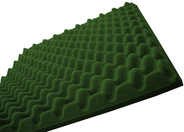 Espuma perfilada - Kit 8 peças - Verde-40mm (2m²)  - Loja SPL Acústica