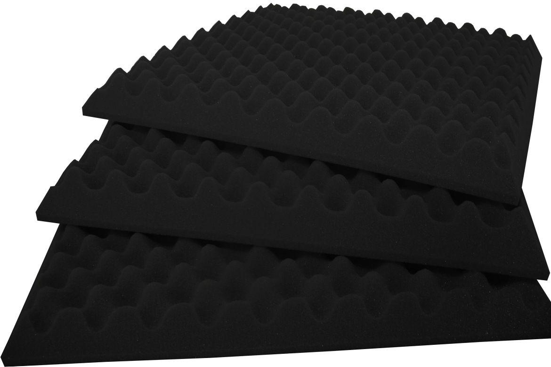 Espuma Perfilada - Kit 8 - Preto - 50mm (2m²)  - Loja SPL Acústica
