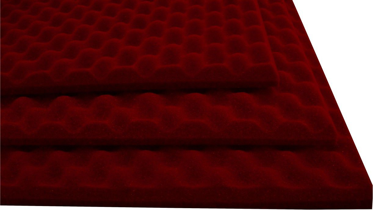 Espuma Perfilada - Kit 4 - Vermelho-30mm (1m²)  - Loja SPL Acústica